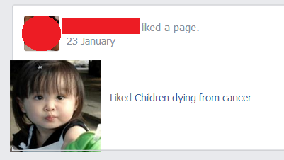 Children dying from cancer? I like that!