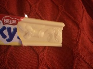 Phallic chocolate – A surprise Milkybar cock