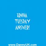 Trivia Tuesday answer – Week 4