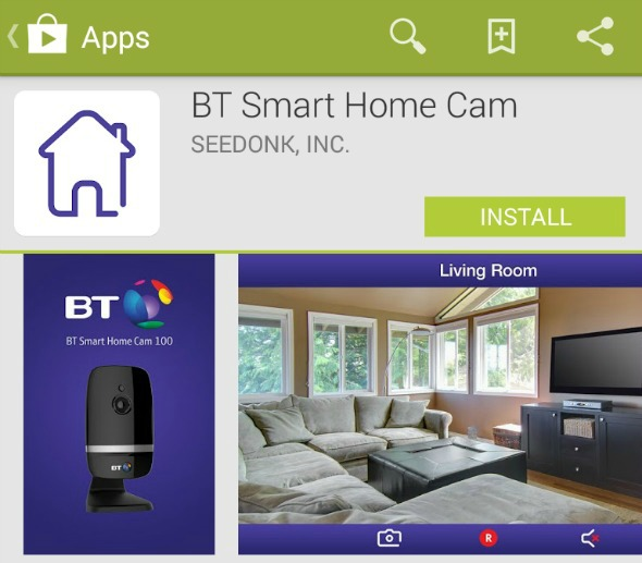 Bt Smart Home Cam  App